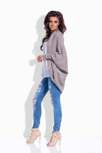 Cappuccino Loose Bat Sleeves Cardigan