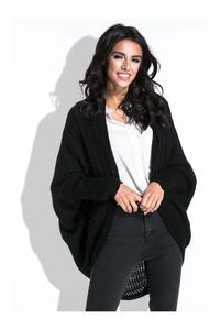 Czarny Bat Sleeves Cardigan