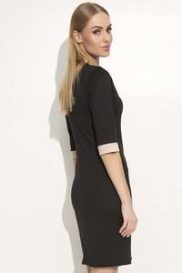 Black Bodycon Dress with a Bow