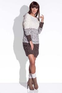 Brown Knitted Fall/Winter Dress