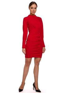Fitted Mini Dress with Pleats (Red)