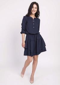 Light Navy Blue Dress Fastened with press studs