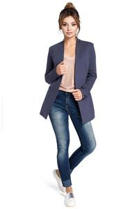 Blue Casual No Buttons Blazer