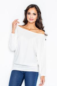 Ecru Loose Bat Long Sleeves Blouse