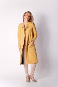 Camel Envelope Coat with Large Pockets