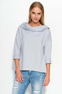 Grey Hooded Blouse