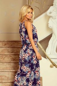 Maxi Dress Tied at the Neck in Flowers