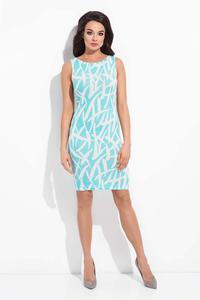 Light Blue Patterned Bodycon Dress
