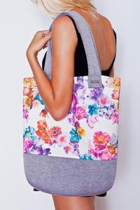 Grey&Floral Big Shopper Ladies Bag