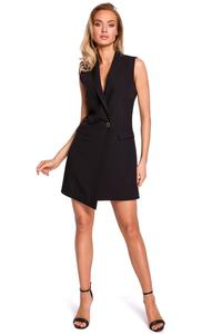 Black Elegant Sleeveless Jacket Dress