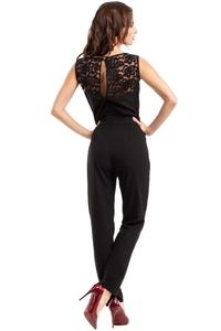 Black Elegant Ladies Jumpsuit with Lace