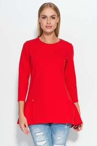 Red Casual Comfy Peplum Blouse