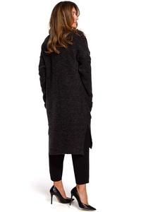 Black Long Cardigan with Pockets