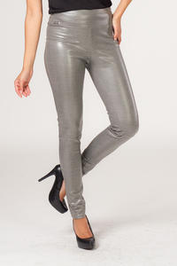 Grey Slim Fit High Waist Ladies Pants