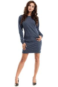 Dark Blue Sport Style Dress with Kangoo Pocket