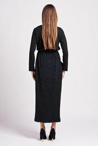 Dark Grey Street Style Maxi Dress with Pocket