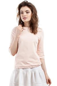 Apricot 3/4 Sleeves Top with Cute Bow
