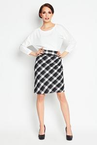 Black Pencil Plaid Pattern Skirt