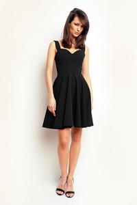 Black Heart Shape Neckline Coctail Dress