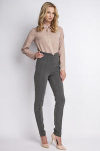 Dark Grey Hight Waist Elegant Pants