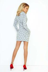 White Mini Tourtleneck Dress with Side Pockets