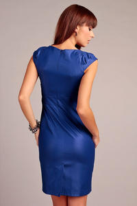 Blue Elegant Dress with Stylish Print