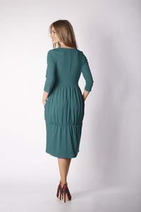 Green Knitted Casual Christmas Dress