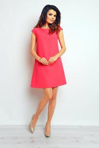 Fuchsia Flared Mini Dress
