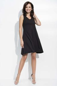 Black Flared Sleeveless Dress