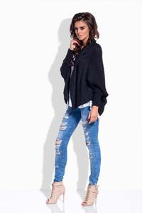Black Loose Fall Style Cardigan