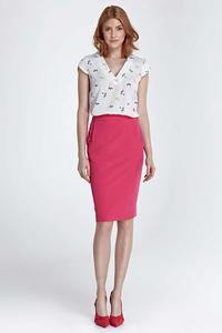 Fuchsia Classic Pencil Midi Skirt
