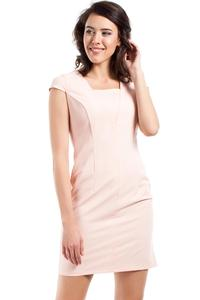 Powder Pink Super Slim Fit Mini Dress