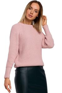 Simple Long Sleeve Sweater (Pink)
