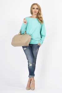 Mint Casual Long Bat Sleeves Blouse