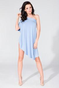 Light Blue Oversized Asymetrical Tunic