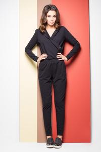 Black Casual Ladies Hooded Jumpsuit