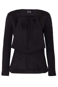Black Long Lapels Blazer with V-Front Hemline