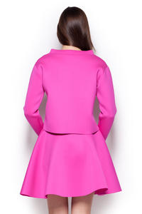 Fuchsia Wide Turtle Neck Drop Shoulder Blouse