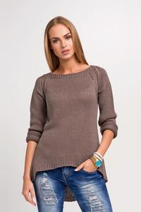 Cappuccino Casual Sweter with Longer Back