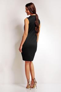 Black Elegant Shirts Style Collar Dress