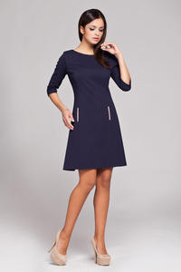 Blue High Tailored Executive Skater Dress