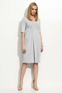 Grey 3/4 Sleeves Midi Dress