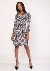 Mini Leopard Dress With 1/2 Sleeves
