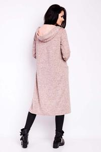 Pink Long Hooded Jacket