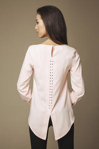 Powder Pink Blouse With Longer Back