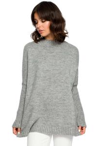 Grey Simple Fall Sweater