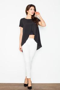 Black Long Unique Style Blouse