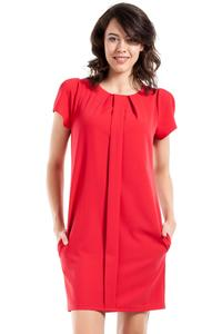 Red Simple Style Short Sleeves Dress