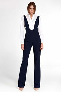 Navy Women Jumpsuit With Suspenders