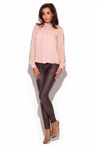 Beige Skinny Fit Pants with Twin Hip Pockets
